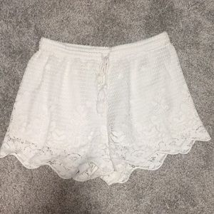 Abercrombie White Lace Shorts